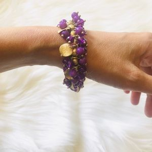 Jewelry - Purple Elastic Beaded Bracelet 🌻3 for $25🌻